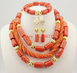 Indian Coral Beads Australia - African Wedding Coral Beads Jewelry Set African Beads Jewelry Sets Nigerian Wedding Jewelry Free Shipping white HD304-1