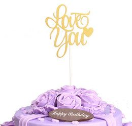 $enCountryForm.capitalKeyWord UK - cake toppers gliter golden love you cards banner for fruit Cupcake Wrapper Baking Cup birthday tea party wedding decoration