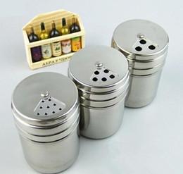 Cozinha de aço Inoxidável Tempero Shaker Jar Açúcar Sal Pimenta Ervas CHURRASCO Spice palito Garrafa De Armazenamento venda por atacado