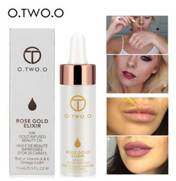 moisturizing liquid foundation Canada - New O.TWO.O 24K Rose Gold Infused Beauty Oil Elixir Skin Make Up Essential Oil Before Primer Foundation Moisturizing Face Oil