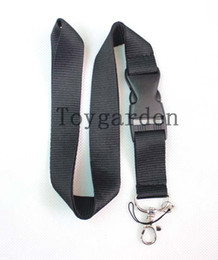 China wholesale up to date Black logo neck Lanyard Strap ,camera Badge ID , Detachable Keychain ,Cell Holder suppliers