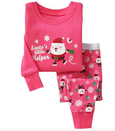 Christmas Tables Canada - Iron Side Table Girls Christmas Dress Set Baby Clothing Kids Holiday Clothes 2015 Cute Deer Snowman Gift Priting Fall Winter Wear Outfit