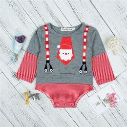 $enCountryForm.capitalKeyWord Canada - Baby Antumn Winter CLothing Romper Stripe Printed Christmas Santa Claus Long Sleeve Cartoon Floral Cute Jumpsuits