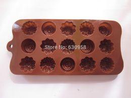 $enCountryForm.capitalKeyWord Canada - 10 pcs lot 15 holes silicone rose flower chocalate mould cake tools baking tools+free shipping