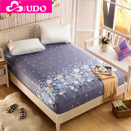 Elastic Beds Canada - Wholesale-You Duo Home Textile Bedding Fitted Sheets Elastic Bed Cover Summer Mattress Cover Bedclothes Bedspread Bed Sheet KM002