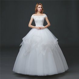 shanghai pearls Canada - Shanghai Story Off The Shoulder Ball Gown Wedding Dress Pearls For Bridal 2017