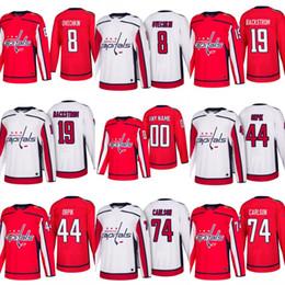 Custom Mens 2017-2018 New Season Washington Capitals 8 Alex Ovechkin 19  Nicklas Backstrom 44 Brooks Orpik 74 John Carlson Hockey Jerseys 05d49241a