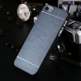 Iphone Metal Case Silver Canada - Luxury Ultra thin Motomo Brushed Brush Aluminium Metal Slate Hard Back Case Cover For iphone 6 4.7 inch iphone 6 plus