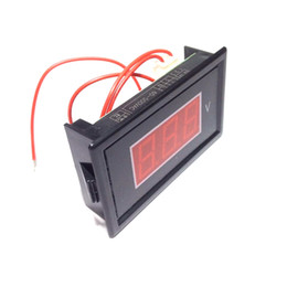 China Mini AC Voltmeter AC 60V-500V Volt Panel Meter Gauge Red Three 0.56'' LED Digital Display Voltage Monitor Free Shipping suppliers