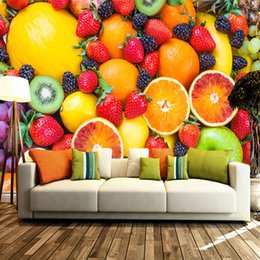 Chinese  Tropical fruit Photo Wallpaper HD pictures Strawberry orange Mural Custom 3D Wallpaper Large wall Art Bedroom Sofa TV background wall Fresco manufacturers