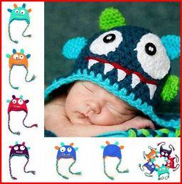 Baby Boy Skull Crochet Beanies Canada - Kids Skull Hats Caps Fashion Baby Hand Knitted Caps Boys Baby Crochet Hats Girls Wool Cap Children Caps Knitted Beanie Hats 5Colors Stock