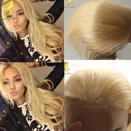 $enCountryForm.capitalKeyWord NZ - Indian#613 Blonde Lace Closure 4*4 Inches Swiss Lace Human Straight Human Hair Closure Three Part Middle Part  Free Part