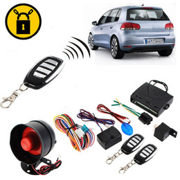 Discount security door lock systems - Car Warning Alarm Security System Keyless Entry Door Lock Automation Siren 2 Remote Control Anti Theift Hijacking CAL_60