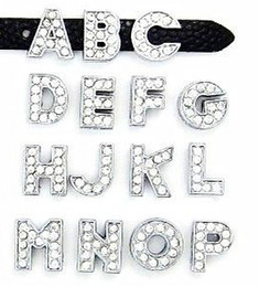 "rhinestone slide letters Australia - 8MM Full Rhinestone Slide Letters ""U-Z Can Choose Each Letter"" (20PCS lot) For DIY Phone Strips & Key Chains"
