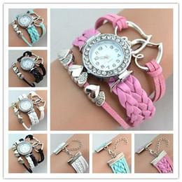 Diamond Bracelet Digital Watch Canada - Infinity Watches Fashion Heart to Heart Bracelet Watches ladies dress WristWatch Women Diamonds Bracelets watch Quartz Watch Round Case Free