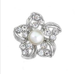 Flower Shape Brooches Canada - Fashion Accessories Graceful Flower Shape Rhinestone Brooch Dress Decoration Silver Collar Pin Gift Jewelry Brooch Hijab Pins