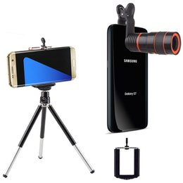 smartphone camera lens NZ - Universal 3-in-1 Phone . Set 8X Zoom Long Focal Camera . + Universal Holder +Mini Tri for Mobile Phone Smartphone H8XZJ lens