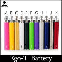 Ego T Mt3 Kits Canada - EGO-T Battery 650mah 900mah 1100mah E cig Battery For Ego-T Ego-W Ego-C MT3 e cigarette Kit 510 Thread CE4 CE5 CE6 AtomizerColorful