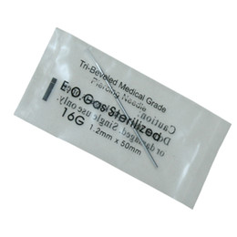 $enCountryForm.capitalKeyWord UK - 16 Gauge 100PC Tattoo Piercing Needles Sterile Disposable Body Piercing Needles 16G For Ear Nose Navel Nipple Free Shipping