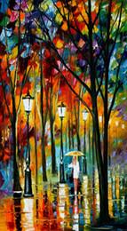 $enCountryForm.capitalKeyWord Canada - Free Shipping Canvas Prints Russian Federation Oil Painting tree Umbrella girl Bridge sea ship sunlight moon street lamp lovers house