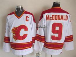 Discount jerseys throwbacks - 30 Teams-Wholesale Wholesale Men's Calgary Flames #9 Mcdonald White Red CCM Throwback Jerseys Ice Hockey Jerseys