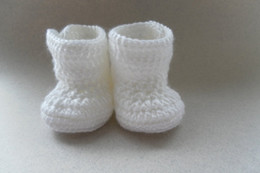 Baby Shoes Red White Canada - 2015 Comfortable Fashion Cute Baby Girls Woolen Warm white Crochet Handmade Knit High-top Tall Boots Shoes 0-12M custom