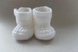 Baby Crochet Customs Australia - 2015 Comfortable Fashion Cute Baby Girls Woolen Warm white Crochet Handmade Knit High-top Tall Boots Shoes 0-12M custom