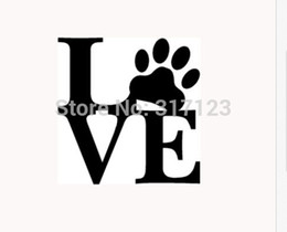 2018 rear window art LOVE PAW Sticker Vinyl Car Window Decal Cute Animal Pet Dog Cat Wall Art discount rear window art