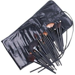 Goat Hair Dhl Australia - DHL Free Ship 32Pcs Professional Makeup Brushes set Cosmetic Brush Set Kit Tool + Roll Up Case 10pcs lot
