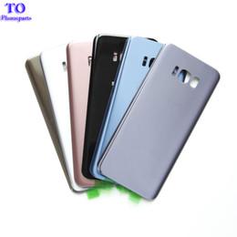 Оригинальный аккумулятор Дверь задняя крышка стеклянный корпус с клейкой наклейкой для Samsung Galaxy S8 G850 S8 G855 Plus