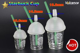 StarbuckS water pipe oil rig online shopping - 10mm mm mm Water Pipes Starbucks Cup Glass Bongs Dab Rigs and Oil Rigs Glass Bongs Hookah Shisha