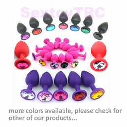 Barato Pequeno Plug Anal Rosa-Red Black Purple Pink Anal Plugs Small Size BDSM Fetish Sex Toys Butt Plug Anus Teaser Silicone Frete Grátis Preço barato B0101020
