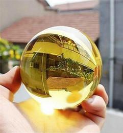 Magic Crystal Balls Canada - Asian Rare Natural Quartz Yellow Magic Crystal Healing Ball Sphere 40mm + Stand