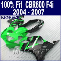 F4i Fairings Australia - Injection molding green custom fairing for HONDA CBR 600 F4i fairings 2004 2005 2006 2007 bodykit 04 05 06 07 CBR600 F4i LCDE