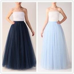 $enCountryForm.capitalKeyWord Canada - 2016 Spring Summer Classic Tutu Skirt Long Bridesmaid Dresses tutu 7 layers Tulle Formal Wedding Party Dresses Girl Women's Long Skirts
