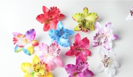 Discount orchids flowers wholesale The butterfly orchid corsage flower ornament headdress head DIY