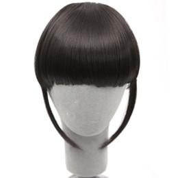 Ingrosso Breve Frange Hair Bangs Hairpiece resistente al calore Clip sintetica nelle estensioni dei capelli Bangs False Hair Piece 8 colori