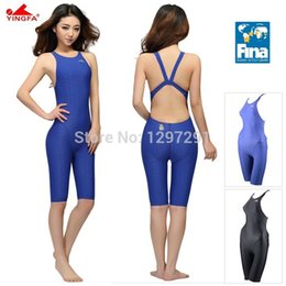 7a054012e87a5 Wholesale- Yingfa FINA Approval Professional One-Piece Swimwear Women  Swimsuit Sports Racing Competition Tight Bodybuilding Bathing Suit
