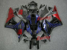 NOVA 2014 Flames INJEÇÃO Fairing Bodywork Kit Set Fit CBR600RR 2007-2008 A33 venda por atacado