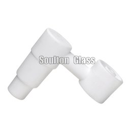Universal Ceramic Nail UK - Soulton Glass Wholesale Side Arm Domeless Ceramic Nail With Universal 14.4mm 18.8mm Male Joint Ceramic Nails Glss Bong CN-007