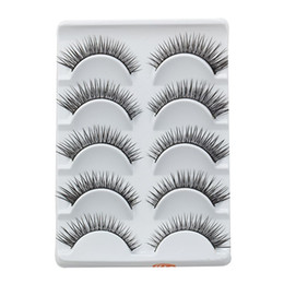 beautiful eyelashes Canada - Very Beautiful Eyelashes 5 Pairs Lot Winged Beauty Supplies Eyelashes Individual False Eyelashes Include Glue For Lashes