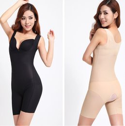 Grossistes En Gros Pas Cher-Femmes en gros amaigrissant corps Shaper formateur ascenseur talon U-cou Hot Shapers sous-vêtements Bodysuit Femmes Gaines Shaper corps complet