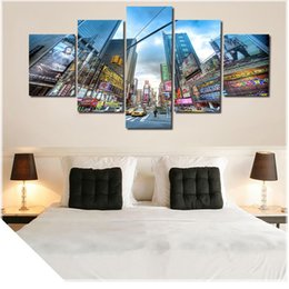 $enCountryForm.capitalKeyWord Australia - 2016 New Hot 5 Pcs City Large Canvas Print Painting for Living Room, Wall Art Picture Gift,Decoration Home Picture Unframed