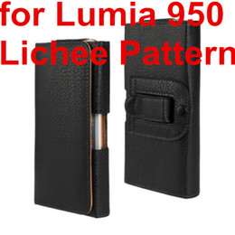 Leather Belt Holster Case NZ - Wholesale Newest Waist Case Holster PU Leather Belt Clip Pouch Cover Case For Microsoft Lumia 950 For Nokia Lumia 950 Phone Bag Free