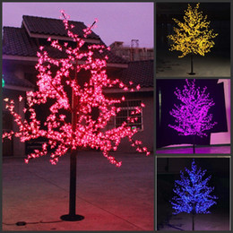 led christmas light cherry blossom tree 480pcs led bulbs 15m 5ft height indoor or outdoor use free shipping drop shipping rainproof