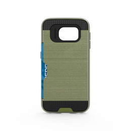 Discount hard case samsung a7 - Hybrid Armor TPU PC Hard Case Brush ID Card Slot Impact Shockproof For Samsung Galaxy S7 EDGE J5 J7 A7 A8 G530 S5 S4 NOT