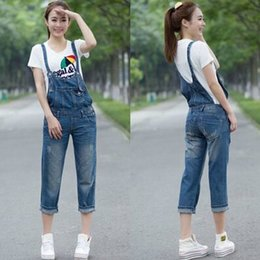 $enCountryForm.capitalKeyWord Canada - Free Shipping Fashion Capris Ladies Romper Pants For Women High Quality Denim Jeans Loose 2XL Summer Capri Jumpsuits For Women hot sale
