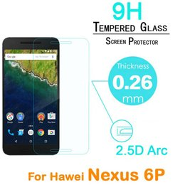 Chinese  2.5D 0.26mm 9H Premium Tempered Glass Screen Protectors With Retail Package For Huawei Google Nexus 6P LG Nexus 5x manufacturers