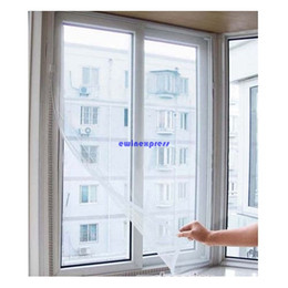Fly Insect Door Screen Canada - Top quality White Large Window Screen Mesh Net Insect Fly Bug Mosquito Moth Door Netting New