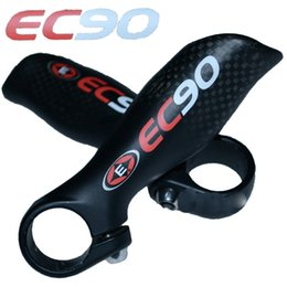 Ergonomic Bike Canada - Free shipping EC90 biycle handlebar end mtb Bike Mountain Ergonomic carbon fiber handlebar bar end bike bicycle parts